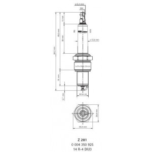 14R-4DIU3 Bougie d'allumage BERU - Z281