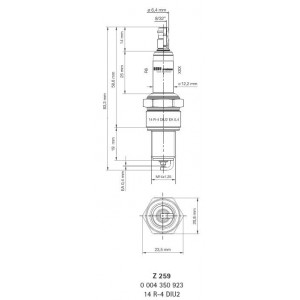 14R-4DIU2-Z259 Bougie d'allumage BERU - Z259