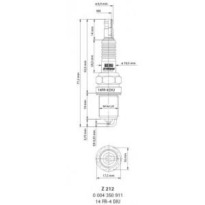 14GZ39 Bougie d'allumage BERU - Z217